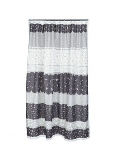 Jurmo shower curtain (grey, d.grey, ecru)  Décor, Bathroom, Shower Curtains & Bath Mats   Marimekko