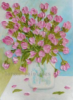 Pintura de empastes de óleo tulipán tulipán por KenziesCottage