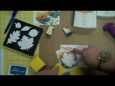 Stampin' Up! Stamping Technique: Creating a stencil with the Big Shot - YouTube
