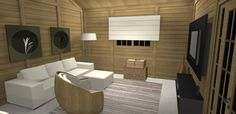 PROJETO 100 m2   SALA / COZINHA 3D 01