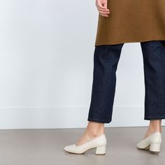LEATHER HIGH HEEL BALLERINAS-View all-Shoes-WOMAN   ZARA United States