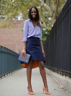Topshop Shirt - Osman Skirt - Vintage Dior Clutch Zara Pumps @ New York Fashion Week Day 5 - Red Carpet Fashion Awards