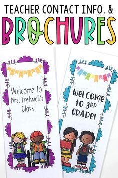 Get ready for back to school night with these classroom welcome brochures, templates, and teacher contact cards and magnets. These meet the teacher essentials are perfect for parent night in any elementary classroom! Add your own editable teacher contact magnets and info to your welcome letters or or school flyers. These organization ideas, printables, and templates are great tips for 1st, 2nd, 3rd, 4th, or 5th grade!