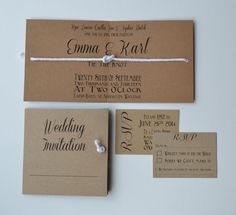 NEW DESIGN...Tie the Knot folded Wedding Invite by GraceandBramble