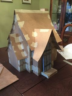 A&C Construction: The English Cottage. Step by step – clear n doable! A&C Construction: The English Cottage. Step by step – clear n doable! English Cottage Style, English Country Decor, English Cottages, Christmas Home, Christmas Crafts, Gnome House, Witch House, Putz Houses, Doll Houses