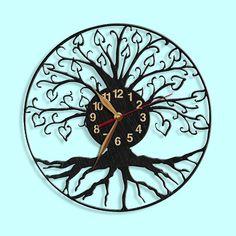 Tree of Life Wall Clock, Wooden clock 12inch(30cm), Wall Art Decor, Wood Clock, Modern, Home decor, Gift Idea