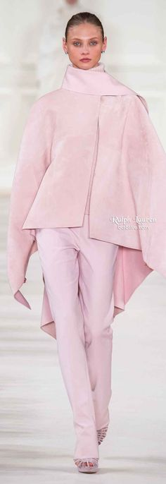 Ralph Lauren Fall 2014 Not normally a lover of pink, but this is stunning! #fashion