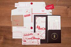 Convite de casamento viajante.