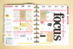 'FOCUS' layout in The Happy Planner™ of mambi Design Team member Heather Adams | me & me BIG ideas