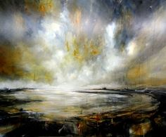 Drama by Alison Johnson Lacey Contemporary Gallery Notting Hill London Landscape Painting