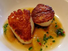 Food Wishes Video Recipes: Seared Scallops with Orange and Jalapeno Dressing – Hot, But Not
