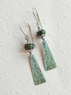 Recycled Tin Earrings Artisan Handmade Earrings One Of A