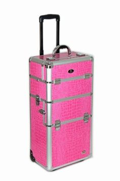 SHANY Pink Snake Skin Rolling Makeup Case with Wide Trays, Premium Collection, 12 Pounds by SHANY Cosmetics, http://www.amazon.com/dp/B003QAFW72/ref=cm_sw_r_pi_dp_4Y5Yrb0SSVHF8