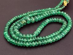 Emerald Beads Emerald Plain Rondelle Beads by gemsforjewels