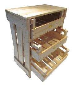 vegetable rack Vegetable Rack, Vegetable Storage, Kitchen Pantry Storage, Kitchen Cupboards, Kitchen Racks, Wood Shop Projects, Home Projects, Pallet Projects, Garden Projects