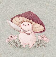 Pretty Art, Cute Art, Character Art, Character Design, Character Sketches, Chibi, Mushroom Art, Hippie Art, Cute Drawings
