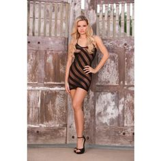 Burn Out Mini Dress