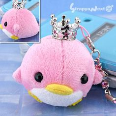 Ocean Paradise Tiraraed Marine Animal Stuffed Toy Cell Phone Strap (Penguin Pink)