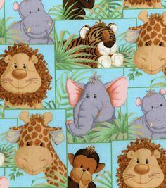 Isn't this cute fabric, Jordan? Nursery Fabric Jungle Babies Patch, , hi-res