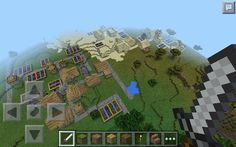 Epic Seed! Seed is : village pls. (No caps, but with space, and no full stop.) Includes a regular village right next to a desert village, both in a Savannah biome. Both villages have a blacksmiths which contain pretty good stuff. All credit goes to Sophie Watkinson who showed me the seed!