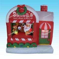 $139.99-$139.99 BLACK FRIDAY SPECIAL! Please Check Out Our Other BZBGOODS Halloween and Christmas Decorations! Get Them before They are Out of Stock for the Holiday! This is the best gift or decoration to take family holiday photos with. This Inflatable Santa's Workshop is a must-have to complete your Christmas. With self-inflating design, this Inflatable Santa's Workshop will be presented in fr ...