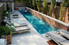 Resultado de imagen de piscinas para patios pequeños ideas