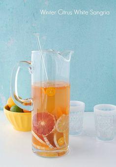 Winter citrus sangria - http://wonderdump.com/winter-citrus-sangria-18/