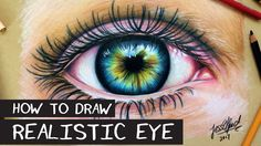 HOW TO DRAW A REALISTIC EYE with prismacolor pencils - YouTube