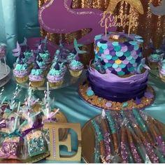 Mermaid dessert table