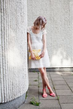 Lovely summer white lace dress