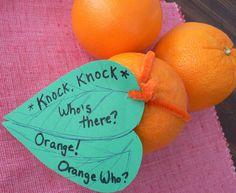 Give an orange for Valentine's day! Great for kids to give or in a lunch box.