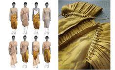Golden innovation by Roman Rudolph http://1granary.com/central-saint-martins-fashion/golden-boy-roman-rudolph/ #1Granary #CSM #gold #golden #metallic #fabric #metalfabric #innovation #design #fashion #medieval #greek #gods #goddess