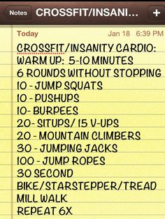 My Cossfit/Insanity cardio program for home workout. One of a few I designed. - JBA
