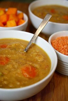Low Calorie, Low Maintenance, High Protein: Butternut Squash Lentil Soup
