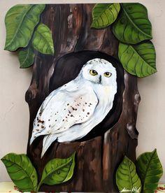 Arte Coruja branca- Por Fabiana Kaled