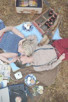 Georgia Vintage Picnic Engagement: Amanda & Jennifer | lesbian wedding | lesbian engagement | same-sex wedding | same-sex engagement
