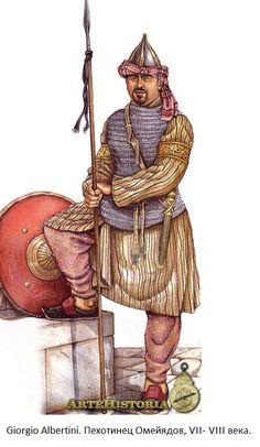 Umayyad infantryman, VII-VIII c.