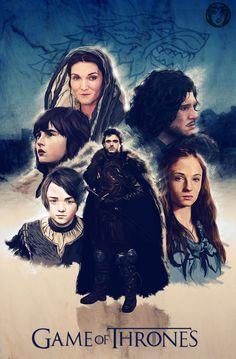 Game Of Thrones Poster by Giordan Casanova, via Behance