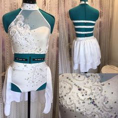 For a client. #lyrical #dancecostume #customdancecostume #lace #bling #diamontte @classically_costumed