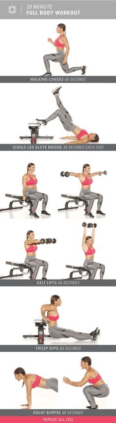 Only have 20 minutes? Check out this full body workout!  | Posted By: CustomWeightLossProgram.com