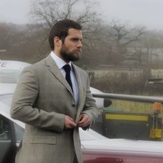 Backstage photos of Henry Cavill photoshoot for ShortList Magazine