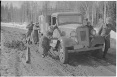 Roads in eastern front were poor in spring time Chevrolet Trucks, Spring Time, Roads, Finland, Antique Cars, Vehicles, Vintage Cars, Cars, Vehicle