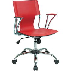 Shop Staples for Office Star Avenue Six® Fabric Dorado Office Chair, Red and enjoy fast and free shipping on qualifying orders. Red Office Chair, Office Chairs, Desk Chairs, Chair Tips, Adjustable Office Chair, Office Star, Conference Chairs, Chair Height, Home Office Furniture