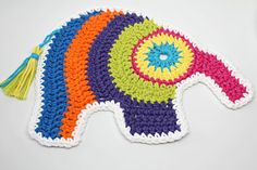 Elephant shaped Coaster Coffee Mug Rug Snack Mat Candle