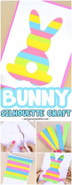 Easter Silhouette Printable Craft for Kids to Make #Eastercrafts #craftsforkids #activitiesforkids