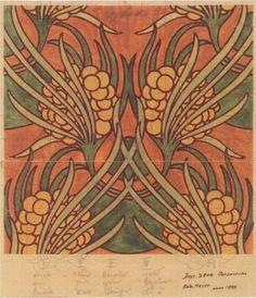 Fabric design for Backhausen, 1899 - Koloman Moser