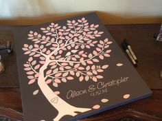 guestbook: sign the tree for the lovebirds http://www.unionbluff.com/wedding.cfm