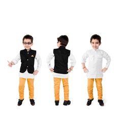 Kute Kids Multi Kurta Pyjamas For Boys