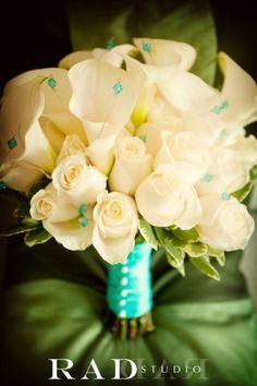 Bouquet alcatraces y rosas