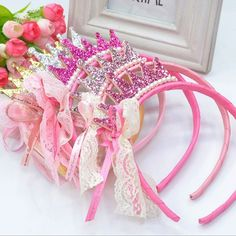 Cheap hair accessories, Buy Quality princess headband directly from China crown princess Suppliers: Cute Kids Children Girls Pearls Resin Lace Bow Ribbon Crown Princess Headband Hairband Hair Bands Hair Pins Hair Accessories Princess Hairstyles, Headband Hairstyles, Girl Hairstyles, Lace Bows, Ribbon Bows, Hair Band For Girl, Birthday Hair, Barrettes, Kids Hair Accessories